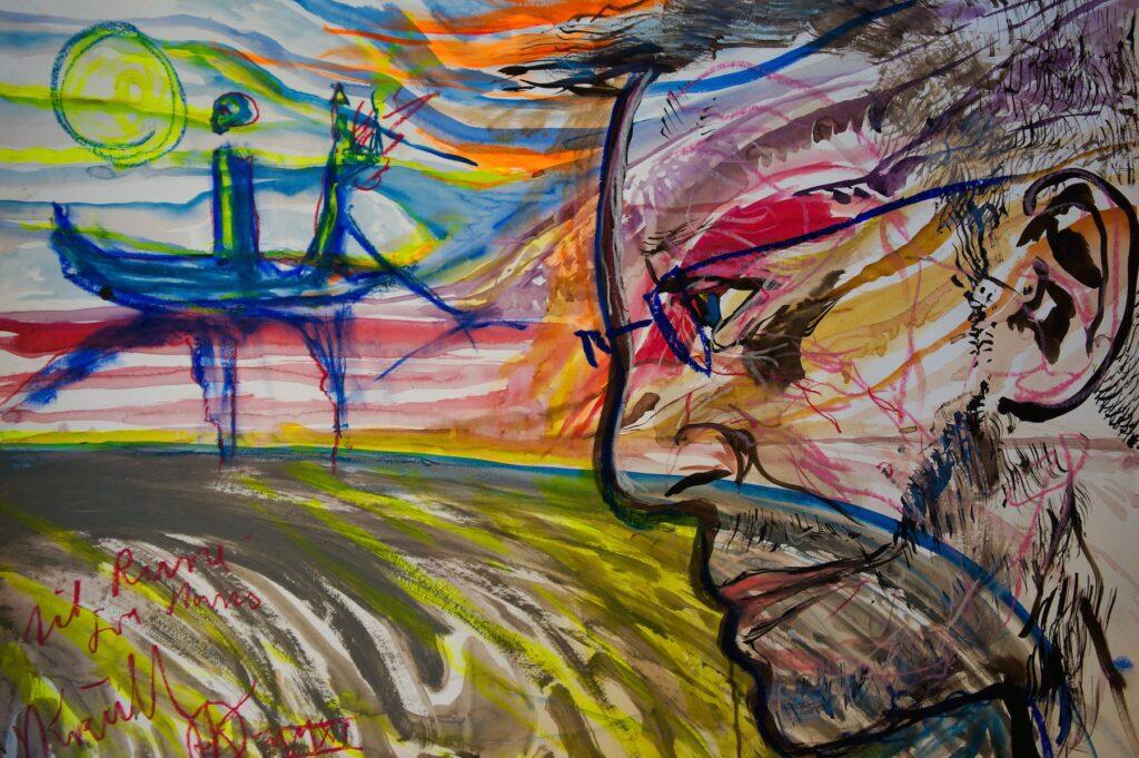 Hans Krull: Portrætmaleri af Rune Engelbreth Larsen